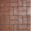 brick stamped concrete design