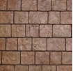 cobblestone stamped concrete design