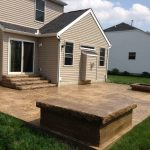 seamless slate brown concrete patio