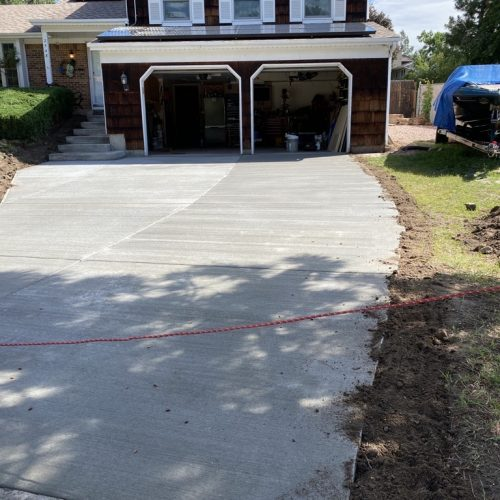 concrete driveway curbing