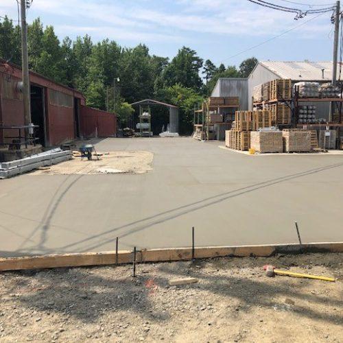 commercial concrete parking lot