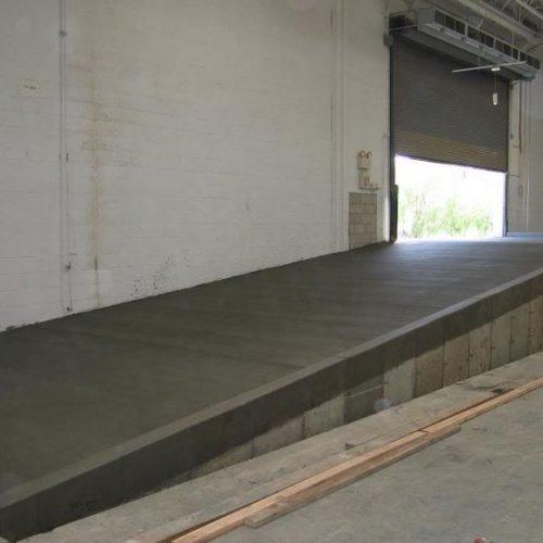 loading ramp in industrial building